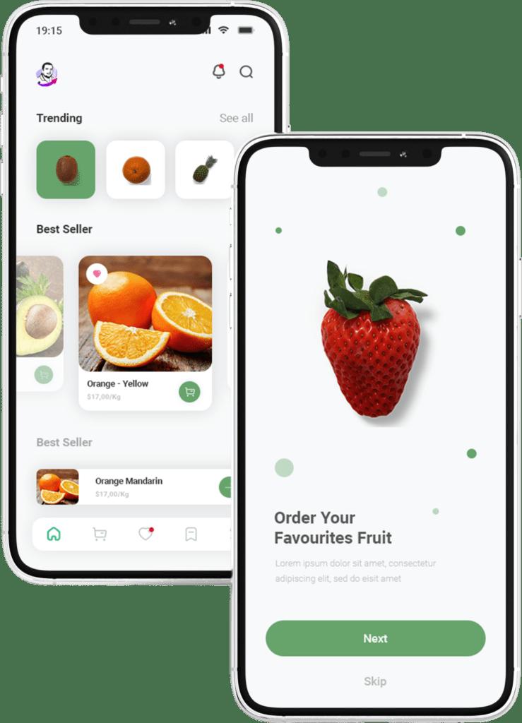 אפליקציה מעוצבת לחנות פירות וירקות