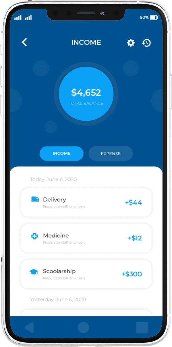 פיתוח אפליקציה בתחום הפיננסי מסך נוסף