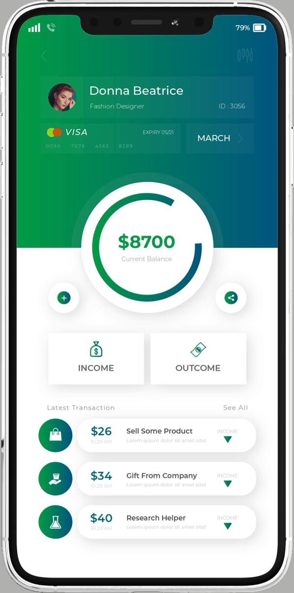 פיתוח אפליקציה בתחום הפיננסי מסך משני