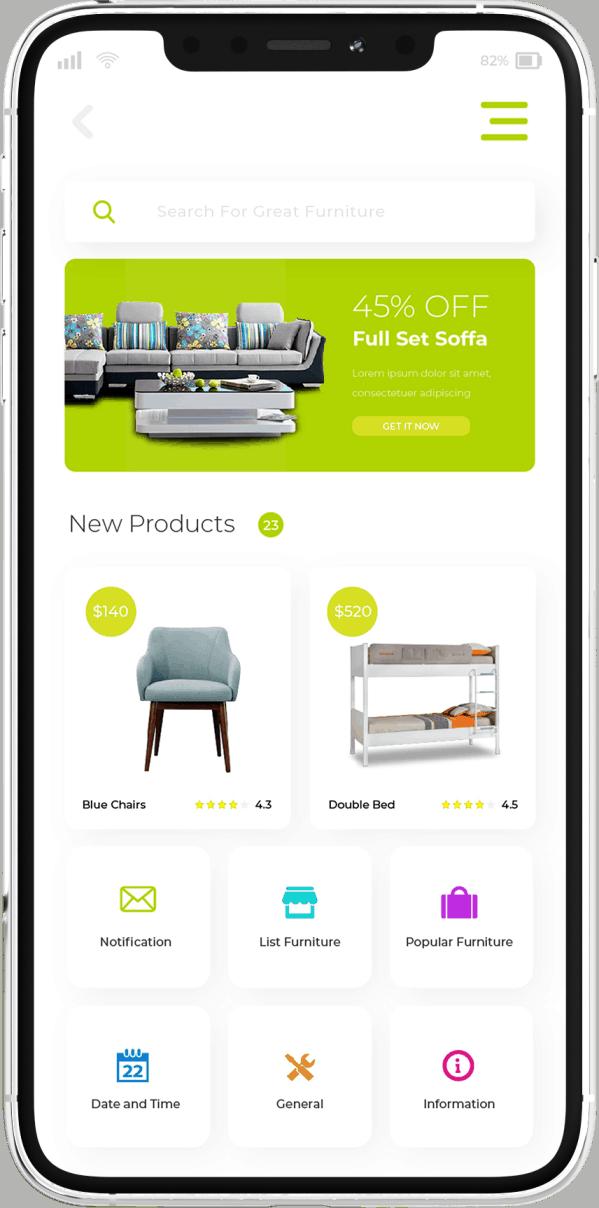 פיתוח אפליקציה לחנות מוצרי ריהוט