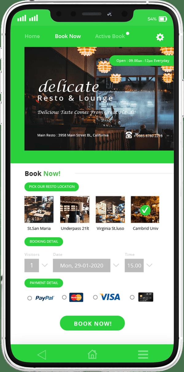 פיתוח אפליקציות בתחום המסעדה - מסך תשלום